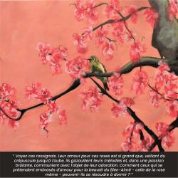Le jardin du Riḍván à Bagdad en 1863 regorgeait de roses et de rossignols qui chantaient toutes les nuits. (Peinture réalisée par F.V)