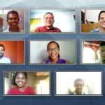Les neuf membres de l'Assemblée spirituelle nationale des bahá'ís du Timor-Leste nouvellement élue se réunissent en ligne pour leur première réunion.