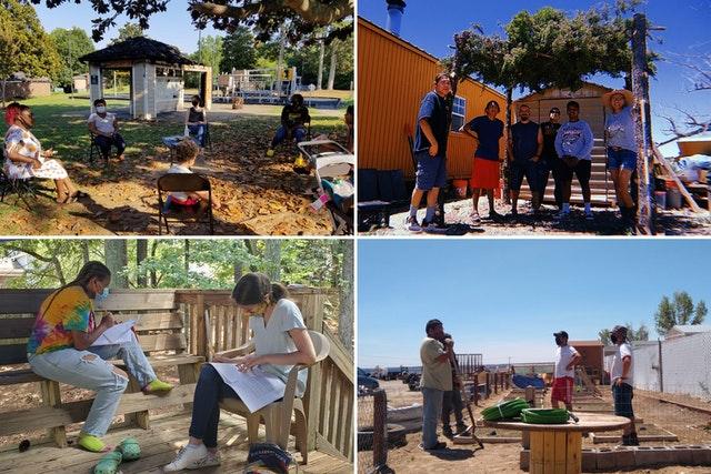 Les discussions du symposium ont porté sur les expériences de la communauté bahá'íe des États-Unis en matière de collaboration et de solides liens d'amitié entre des personnes d'origines diverses dans des quartiers de tout le pays. Certains de ces efforts sont illustrés ici.