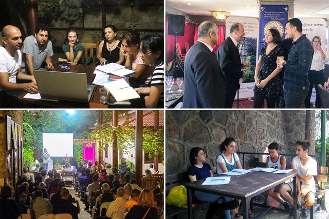 Photos prises avant la crise sanitaire actuelle. La communauté bahá'íe de Turquie a engagé divers membres de la société dans des efforts de développement de la communauté et des projets d'éducation qui permettent une exploration approfondie du principe d'égalité entre les femmes et les hommes.