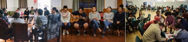 Photographies prises avant la crise sanitaire actuelle. Divers groupes de jeunes de Manurewa se sont engagés dans des activités éducatives bahá'íes visant à renforcer les capacités de servir la société.