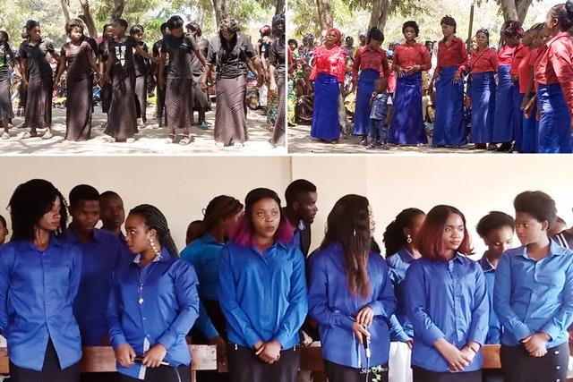 Rassemblements de personnes organisés conformément aux mesures de sécurité exigées par le gouvernement. Des chorales locales de différentes communautés religieuses ont interprété des chansons sur le thème de l'égalité des sexes, composées spécialement pour la conférence.